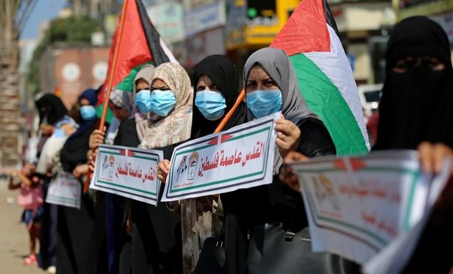 Gazze ve Batı Yaka'daihanet anlaşması protesto edildi
