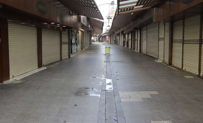 Tam kapanmanın ilk gününde sokaklarda sessizlik