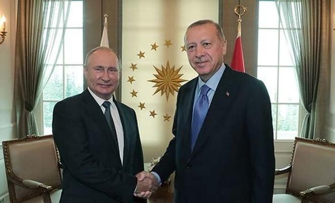 Erdoğan-Putin görüştü, üçlü zirve öncesi heyetler bir araya geldi