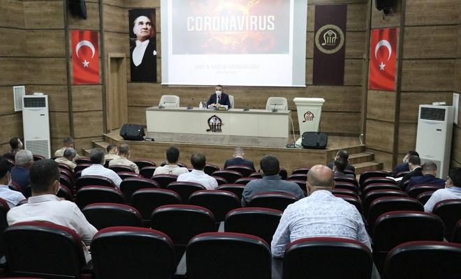 Pandemi denetim ekipleri toplantısı, Vali Hacıbektaşoğlu başkanlığında yapıldı