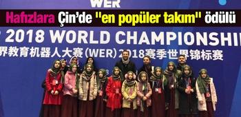 Hafızlara Çin`de -en popüler takım- ödülü