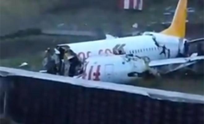 Sabiha Gökçen'de düşen uçağın iki pilotu hakkında soruşturma başlatıldı