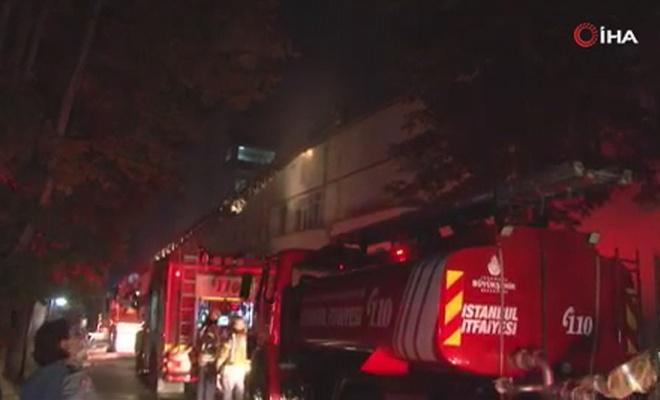 Üsküdar'da hastanede yangın