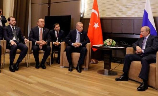 Putin ve Erdoğan'ın Soçi'deki görüşmesinde 5 saat 20 dakika geride kaldı
