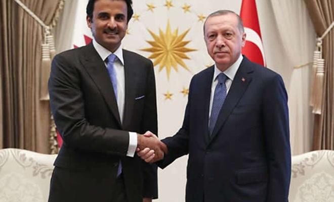 Cumhurbaşkanı Erdoğan Katar Emiri Al Sani ile telefonda Mescid-i Aksa'ya saldırıları görüştü