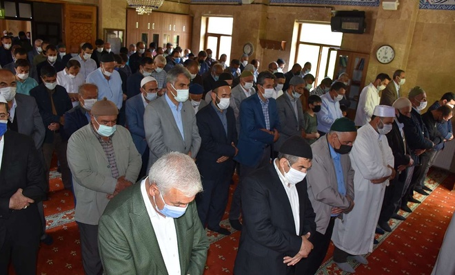 Bitlis'te şehid düşen Filistinliler için gıyabi cenaze namazı kılındı