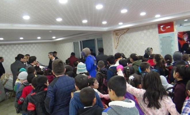 Nusaybinli öğrencilere kışlık yardımı
