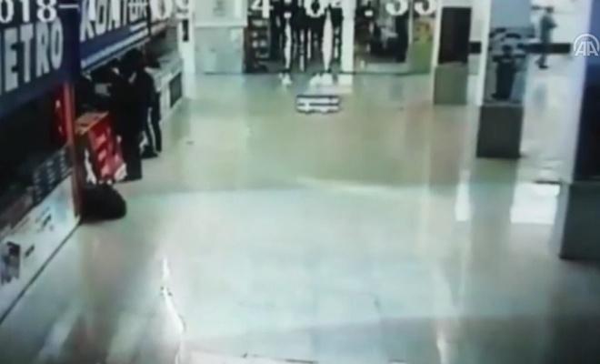 Sağlık memurunun darpedilmesi kamerada
