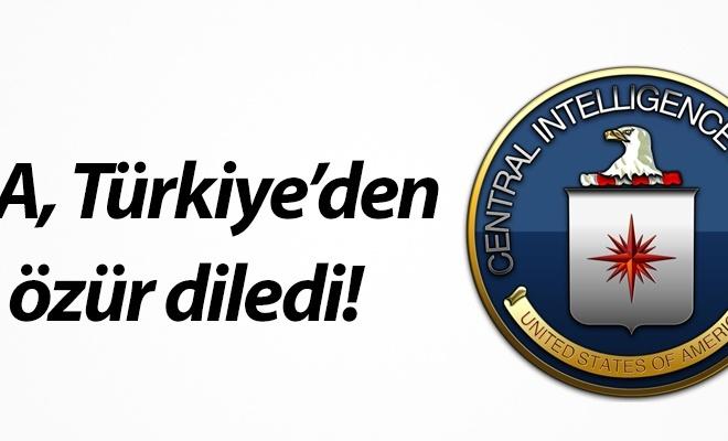 CIA, Türkiye`den özür diledi