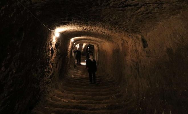 Gaziantep Kalesi'nin tünelleri ziyarete açılmak için gün sayıyor