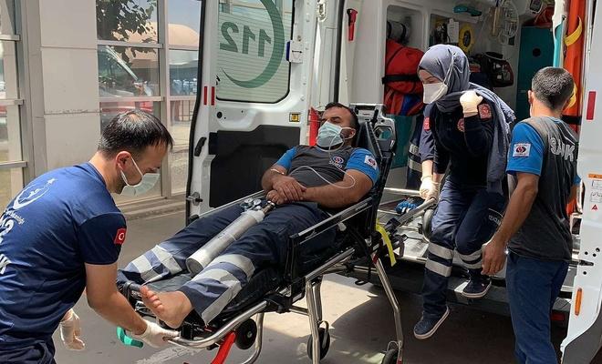 Metan gazından zehirlenen iki kişi hastaneye kaldırıldı