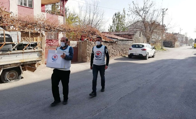 Yetimler Vakfı, Aksaray'daki yetim ailelere yardımda bulundu