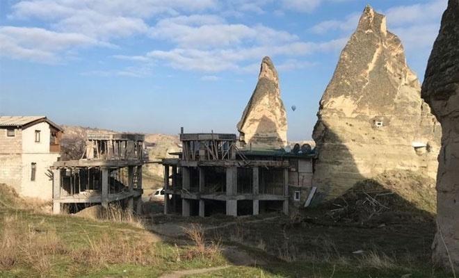 Peri bacalarındaki inşaat durduruldu