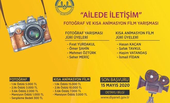 """""""Ailede İletişim"""" konulu fotoğraf, kısa animasyon film yarışması yapılacak"""