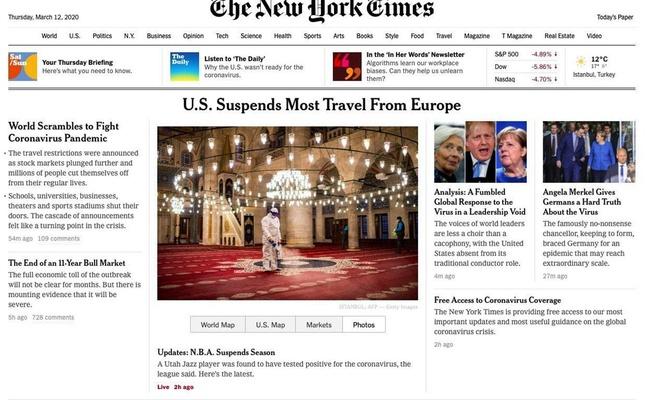 NYT'nin Türkiye hakkındaki Corona virüs algısı tepki çekti