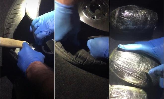 Malatya'da bir aracın stepnesine gizlenmiş 2 kilo uyuşturucu ele geçirildi