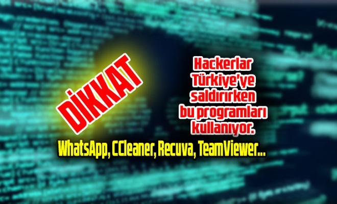 Hackerlar Türkiye'ye saldırırken bu programları kullanıyor.