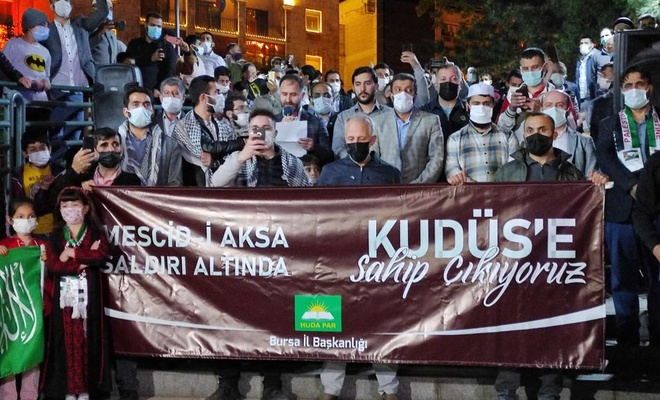 HÜDA PAR Bursa'dan Kudüs nöbeti