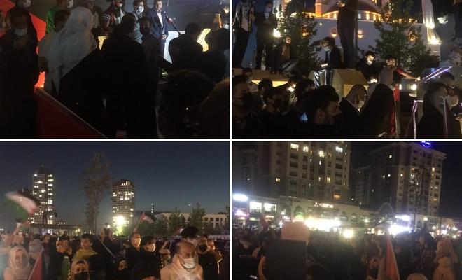 İstanbul'da HÜDA PAR tarafından düzenlenen Kudüs ve Gazze ile dayanışma eylemi !