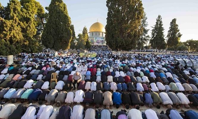 100 bin Müslüman bayram namazını Mescid-i Aksa`da kıldı