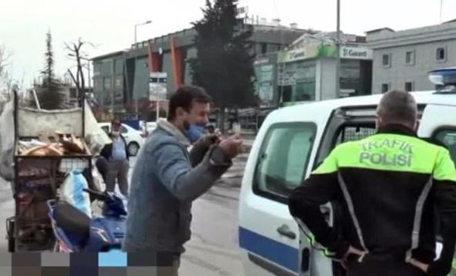 Kağıt toplayıcısına 5.800 TL para cezası kesildi, görüntüler vicdanları sızlattı