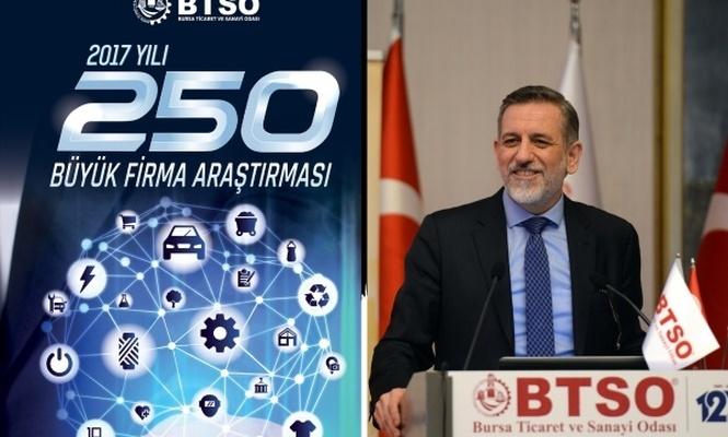 Bursa`nın ilk 250 büyük firması açıklandı