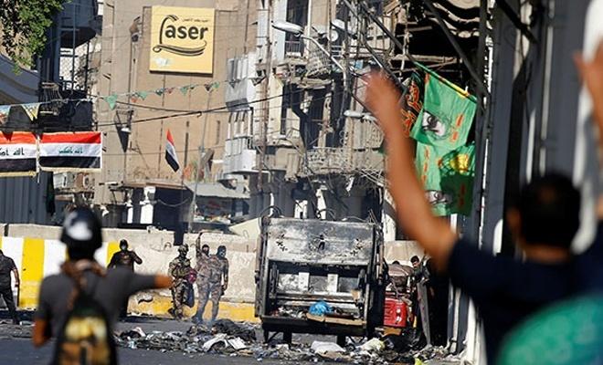 Irak'ta sular durulmuyor: Gösterilerde 8 kişi öldü