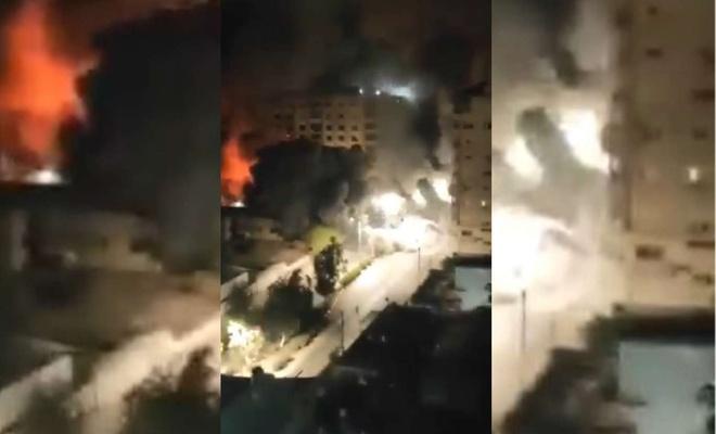 Terör şebekesi basın ofisleri ve medya kuruluşlarının olduğu binayı yerle bir etti