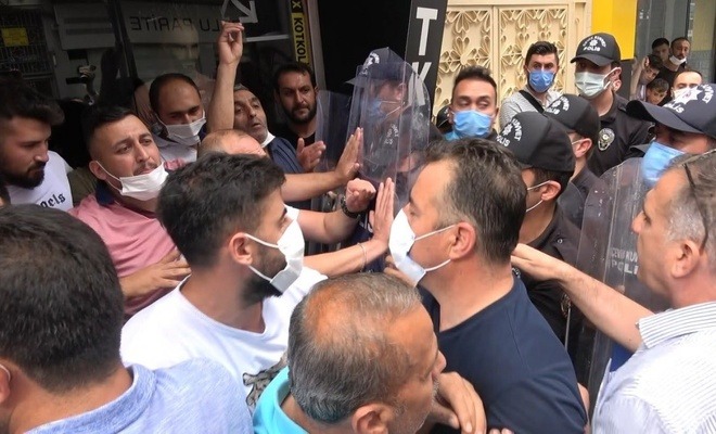 Tokat'ta sahte marka operasyonunda esnafla polis arasında arbede