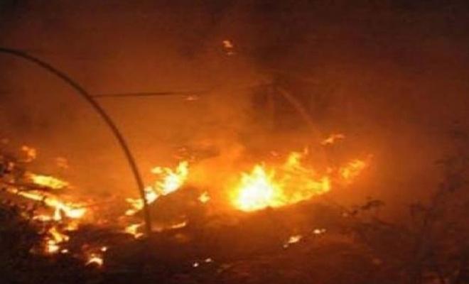 Azez`de çadır yangını: 1 ölü, 4 yaralı