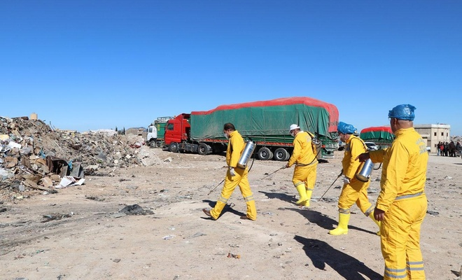Tel Abyad'da SUDKOM koordinesinde haşerelere karşı ilaçlama yapıldı