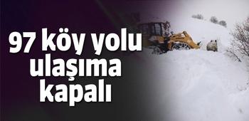 Bingöl`de 97 köy yolu ulaşıma kapalı