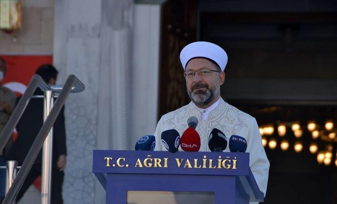 Diyanet İşleri Başkanı Erbaş, Ağrı'da cami açılışına katıldı