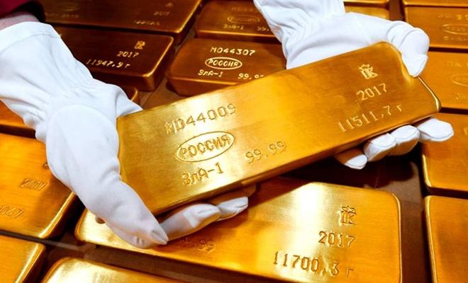 Rus altın rezervleri 19 yılın en yüksek seviyesinde