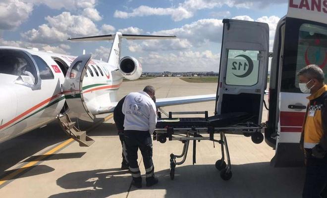 Uçak ambulans 22 aylık Reyhan için havalandı
