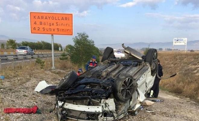 Çankırı`da kaza: Bir ölü, bir yaralı