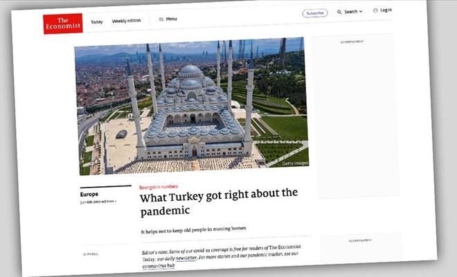 Türkiye'nin koronavirüsle mücadelesine övgü
