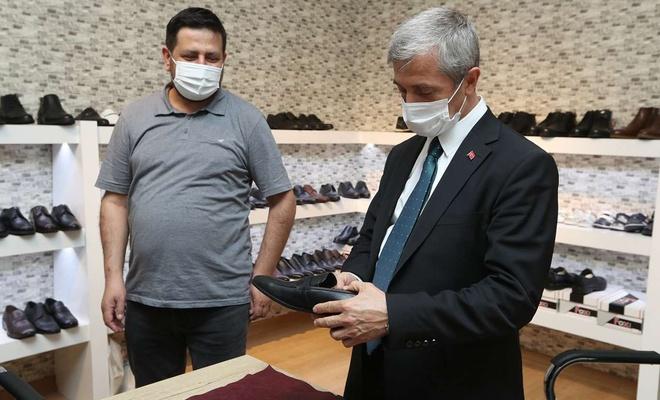 Covid-19 salgınından etkilenen ayakkabıcılara destek
