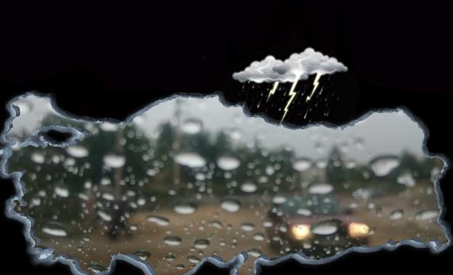 Meteorolojiden kuvvetli yağış, rüzgar ve fırtına uyarısı!