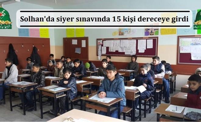 Solhan`da siyer sınavında 15 kişi dereceye girdi