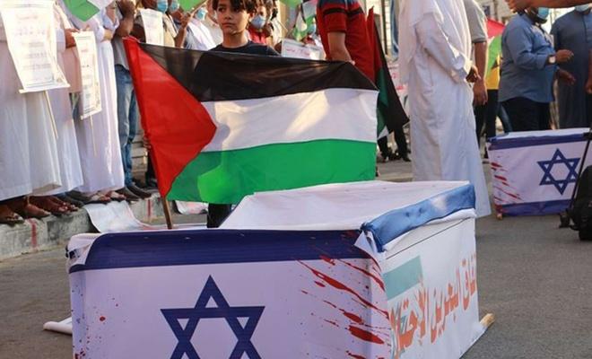 Siyonist işgal rejimi ile normalleşme anlaşması ABD'de protesto edildi