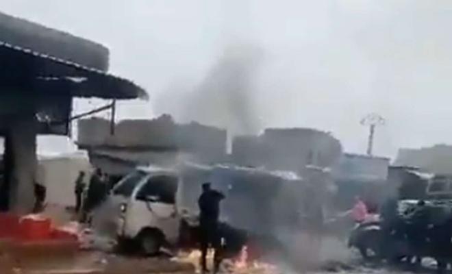 Azez'de bombalı saldırı: Bir ölü 6 yaralı