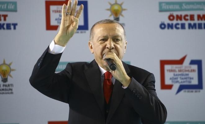 Erdoğan Samsun Aday Tanıtım Toplantısı`nda konuştu