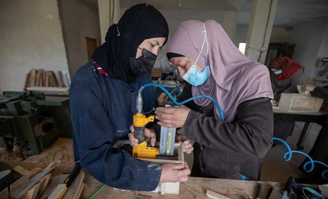 Filistinli kadınların yüzde 40'ı işsiz