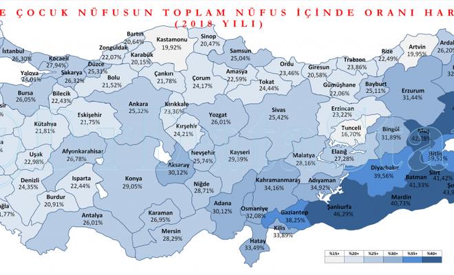 Türkiye nüfusunun yüzde kaçı çocuk, En genç iller hangileri, TÜİK açıkladı