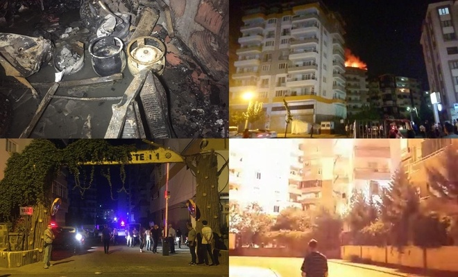 Diyarbakır'da mangal ateşinden çıkan yangınla patlayan iki piknik tüpü korkuya neden oldu