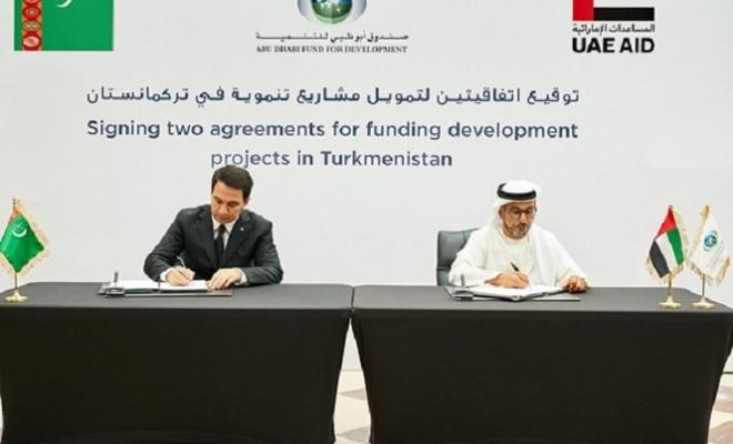 Abu Dabi Kalkınma Fonundan Türkmenistan'daki projelere finansal destek