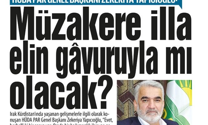 Yapıcıoğlu: Müzakere illa elin gâvuruyla mı olacak?