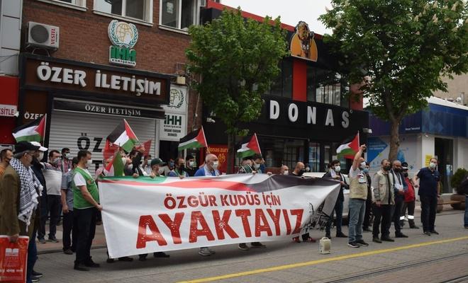Mescid-i Aksa saldırısı Eskişehir'de protesto edildi