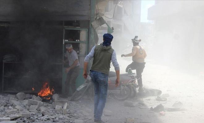 İdlib'e iftardan önce hava saldırısı : 2 ölü, 11 yaralı